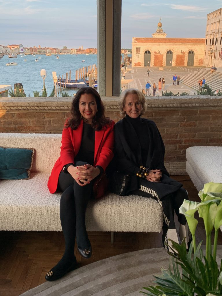 Venice Biennale 2019, Alexandra Lapp during art exhibition with Culture & Travel Club
