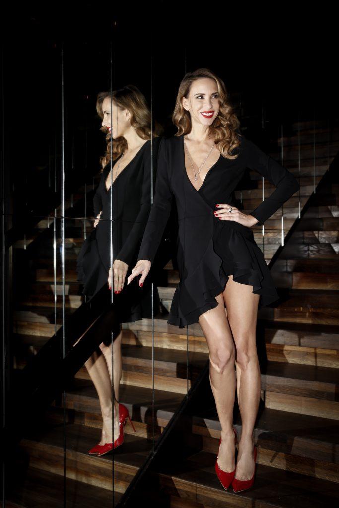 Alexandra Lapp wearing dresses from her design cooperation Lana Mueller x Alexandra Lapp