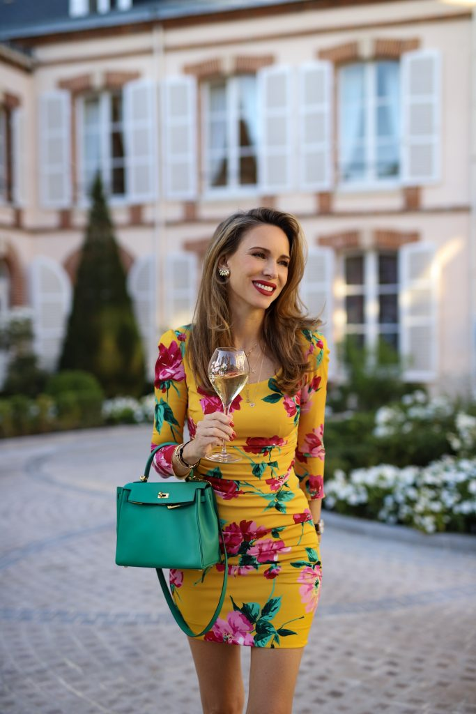 Alexandra Lapp is seen in the Maison Belle Epoque of Perrier-Jouët in Epernay, France.