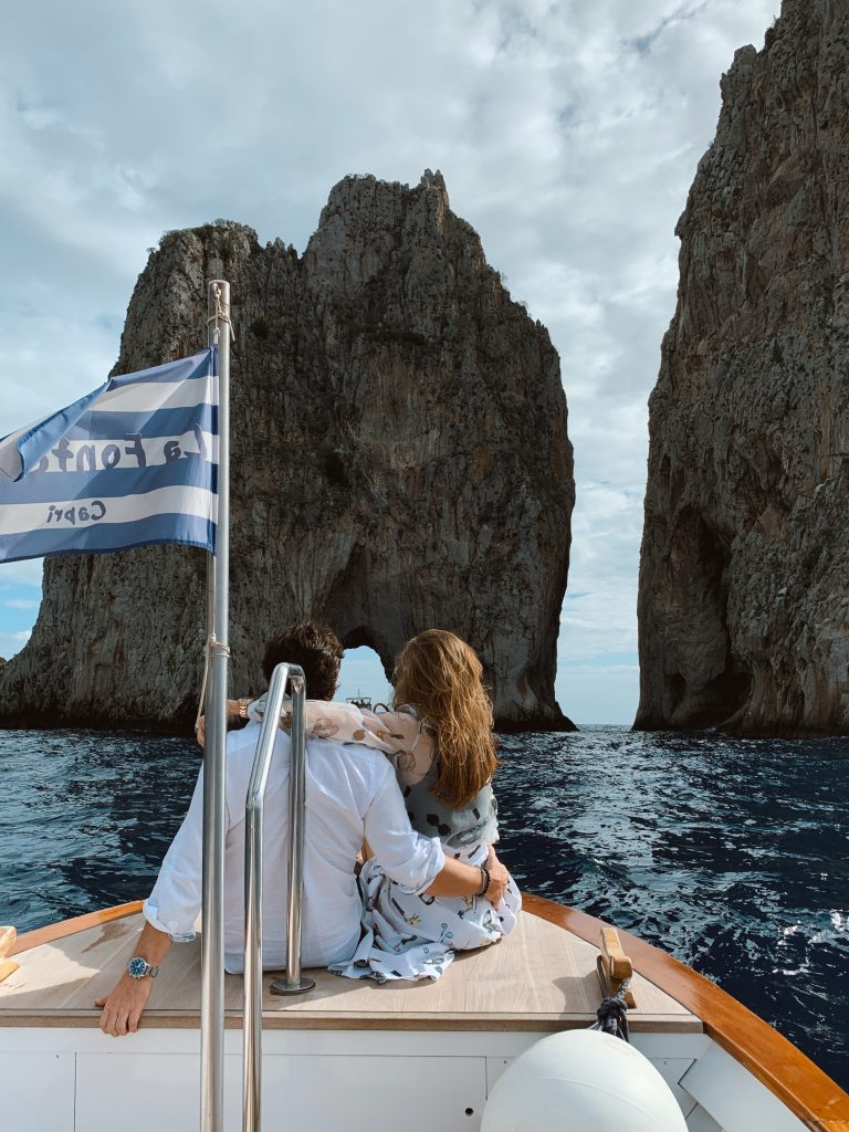 Alexandra Lapp is seen on the isle of Capri in a vacation look