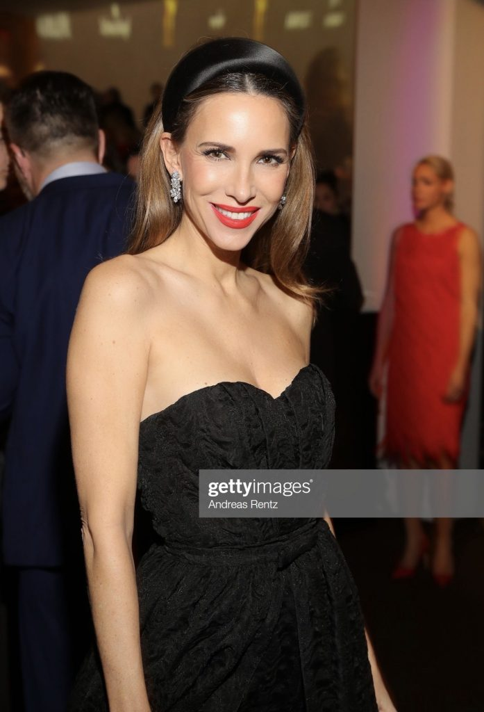 BADEN-BADEN, GERMANY - NOVEMBER 21: Alexandra Lapp attends the 71st Bambi Awards at Festspielhaus Baden-Baden on November 21, 2019 in Baden-Baden, Germany wearing Dior gown and Harry Winston jewelry. (Photo by Andreas Rentz/Getty Images)