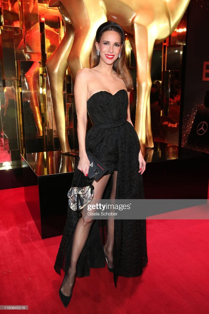 BADEN-BADEN, GERMANY - NOVEMBER 21: Alexandra Lapp, jewelry by Harry Winston during the 71tst Bambi Awards at Festspielhaus Baden-Baden on November 21, 2019 in Baden-Baden, Germany. (Photo by Gisela Schober/Getty Images for Bunte)
