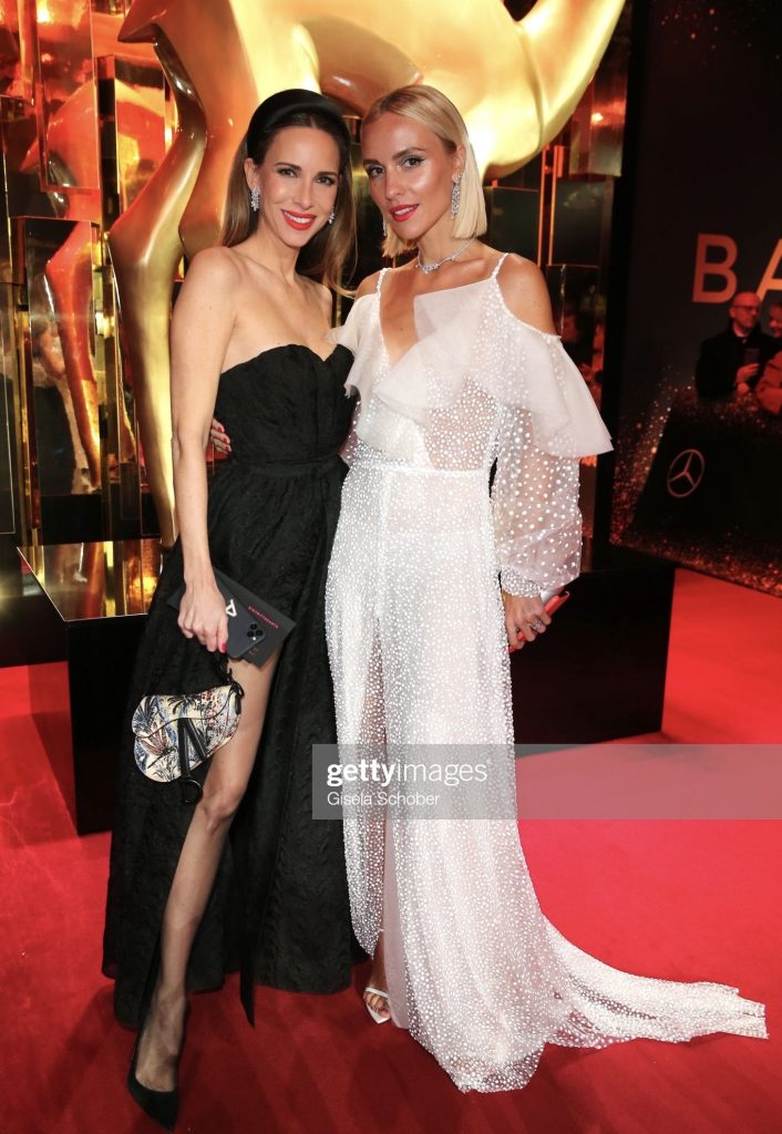 BADEN-BADEN, GERMANY - NOVEMBER 21: Alexandra Lapp wearing Dior gown and Harry Winston jewelry, Victoria Rader during the 71tst Bambi Awards at Festspielhaus Baden-Baden on November 21, 2019 in Baden-Baden, Germany. (Photo by Gisela Schober/Getty Images for Bunte)