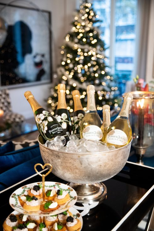 Dinner with friends, Aki Kaviar, Kaviar, Perrier-Jouët, Champagne, Blanc de Blancs, Belle Époque