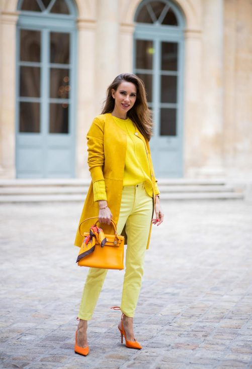 Alexandra Lapp, yellow trend, Milestone, Looxent, MYBC, Peter Hahn, The Attico, Hermes Kelly bag, Hermes, PFW2020, PFW, Paris Fashion Week, Womenswear Fall/Winter 2020/2021