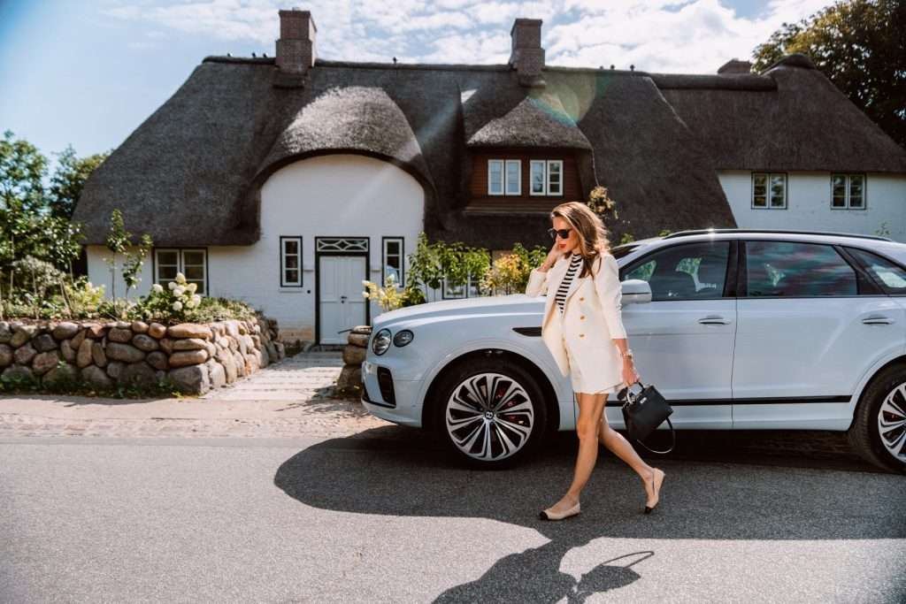 Alexandra Lapp takes part in the NEW BENTAYGA Sylt Experience, driving the #newbentayga best of its class SUV by BENTLY MOTORS.