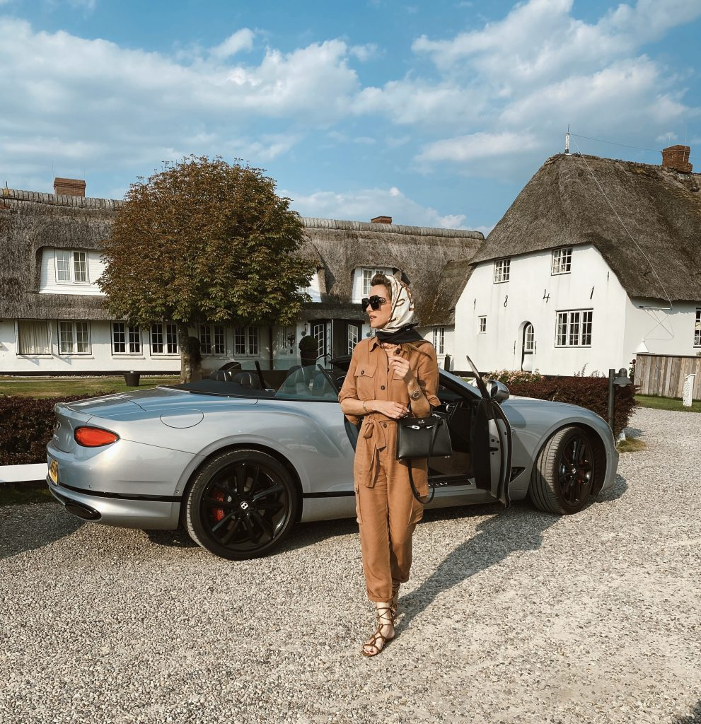 Alexandra Lapp arrives with the BENTLEY 2020 NEW CONTINENTAL GT CONVERTIBLE by BENTLY MOTORS for her Sylt Experience.