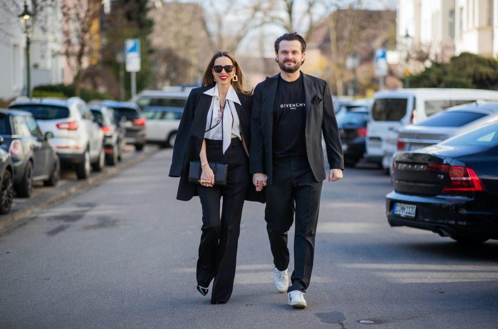 Alexandra Lapp is seen wearing couple looks with Daniel Kozniewski by Breuninger