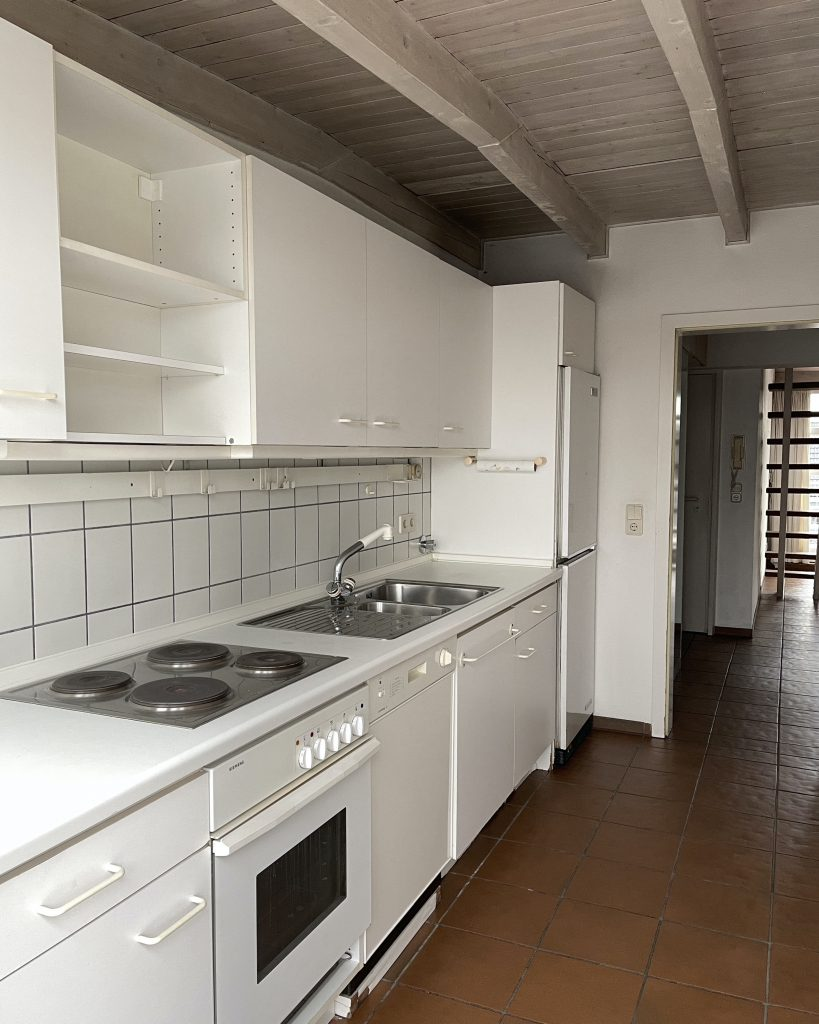 Alexandra Lapp is refurbishing the kitchen of her new apartment in cooperation with Thelen Drifte.