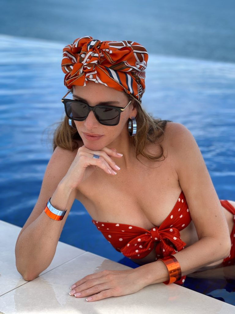 Alexandra Lapp is seen wearing her suit case must haves on the beautiful island of Mallorca.